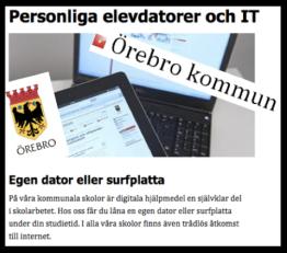 1 till 1 - Örebrokommun